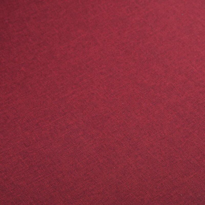 Eetkamerstoelen 2 st stof en massief eikenhout rood