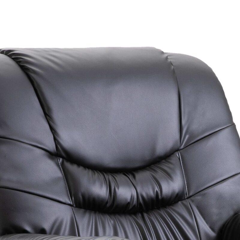 Stoel verstelbaar kunstleer zwart