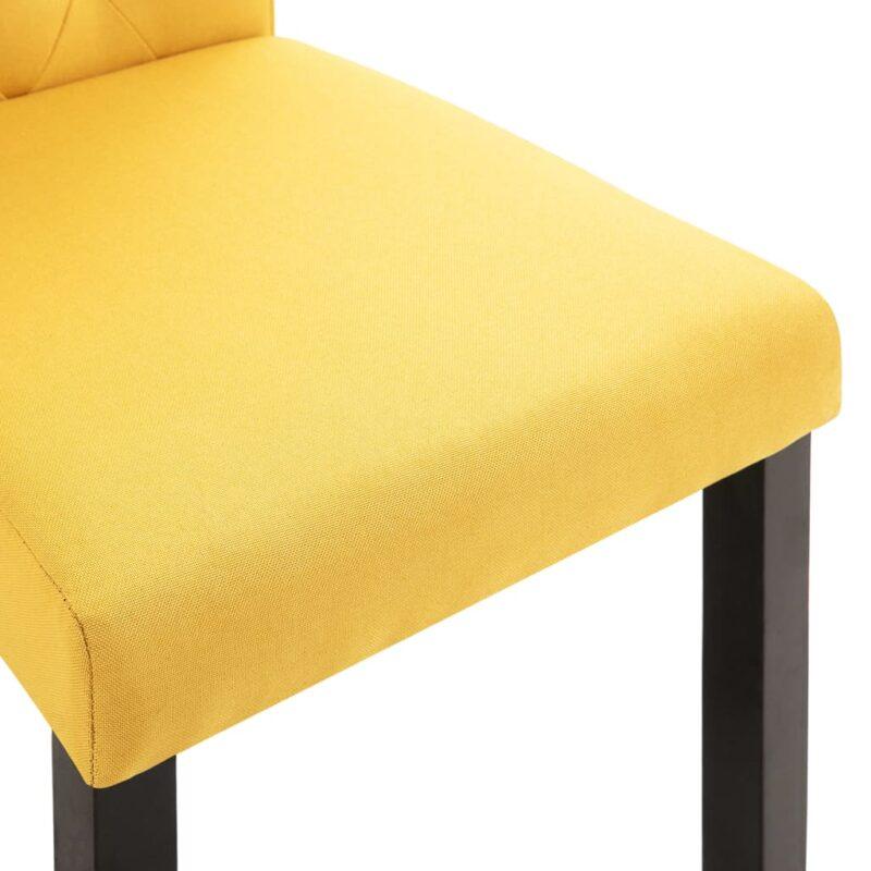 Eetkamerstoelen 2 st stof geel