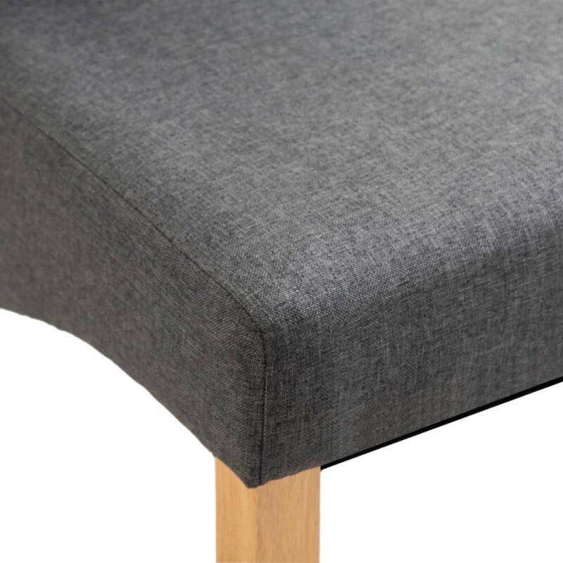 Eetkamerstoelen 2 st stof grijs