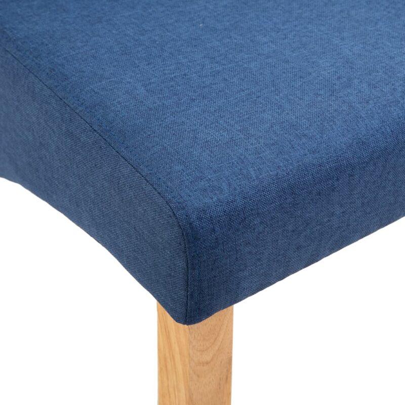 Eetkamerstoelen 4 st stof blauw