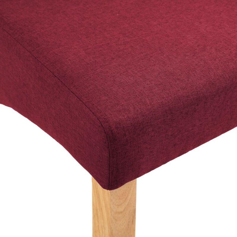 Eetkamerstoelen 4 st stof rood