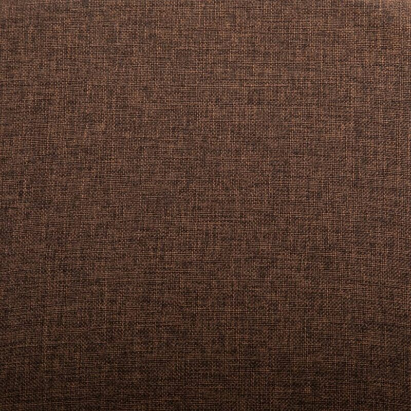 Eetkamerstoelen 2 st stof en massief eikenhout bruin