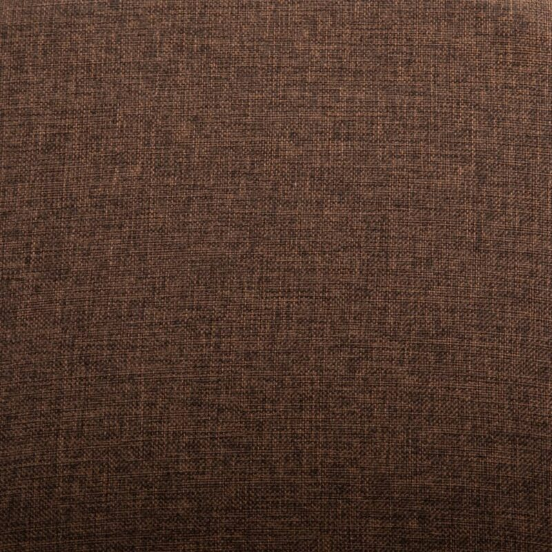 Eetkamerstoelen 4 st stof en massief eikenhout bruin