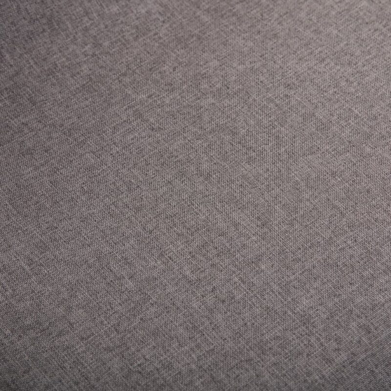 Eetkamerstoelen 2 st stof en massief eikenhout taupe