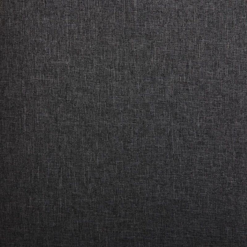 Eetkamerstoelen 2 st stof donkergrijs