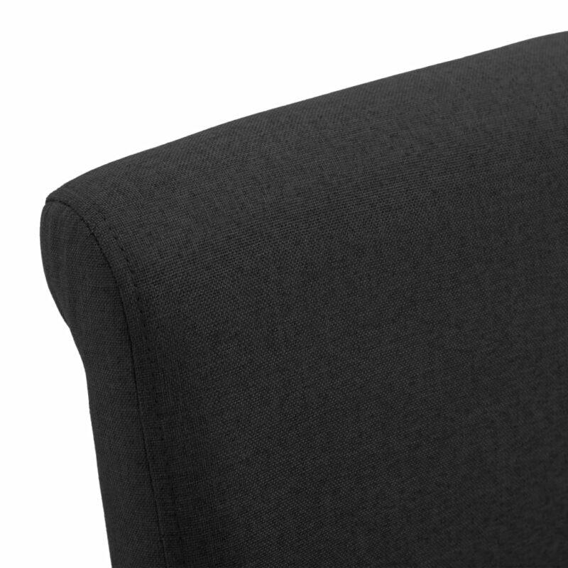 Eetkamerstoelen 2 st stof zwart