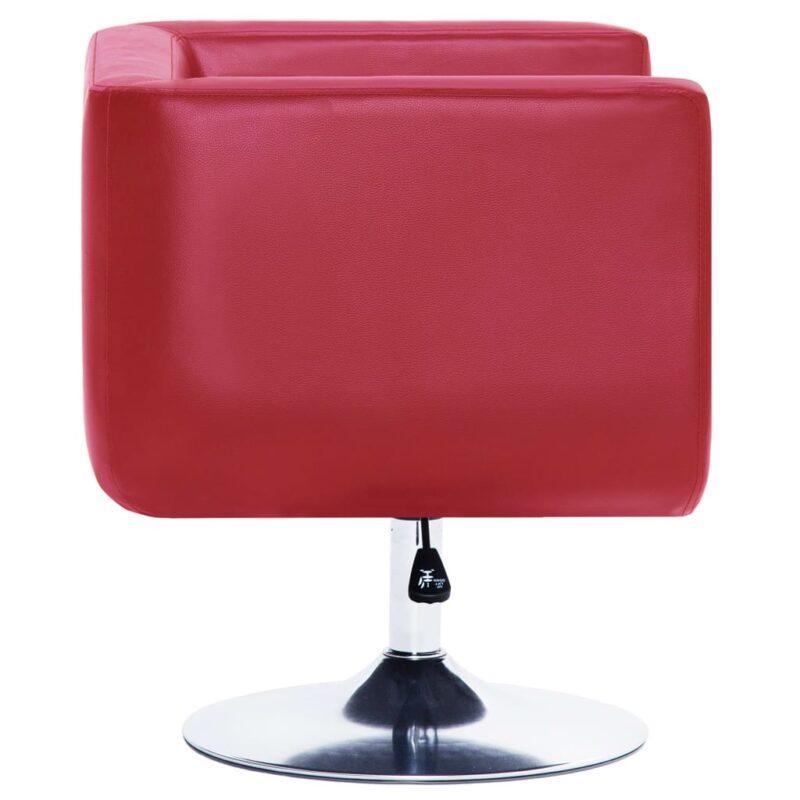 Fauteuil draaibaar kunstleer rood