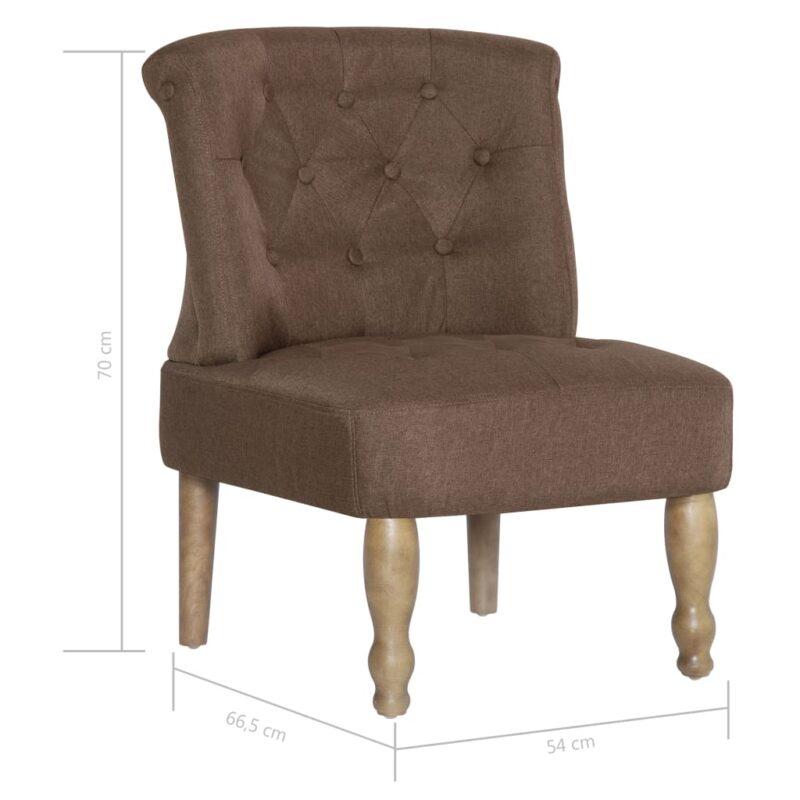 Franse stoel stof bruin