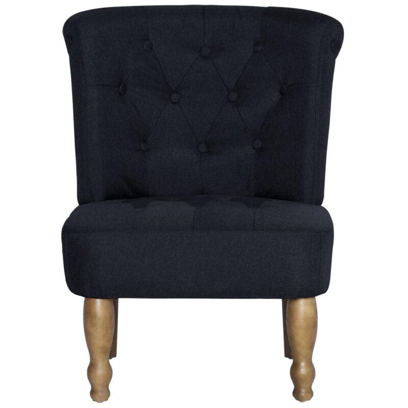 Franse stoel stof zwart