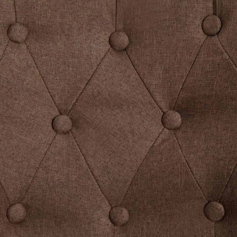 Franse stoelen 2 st stof bruin