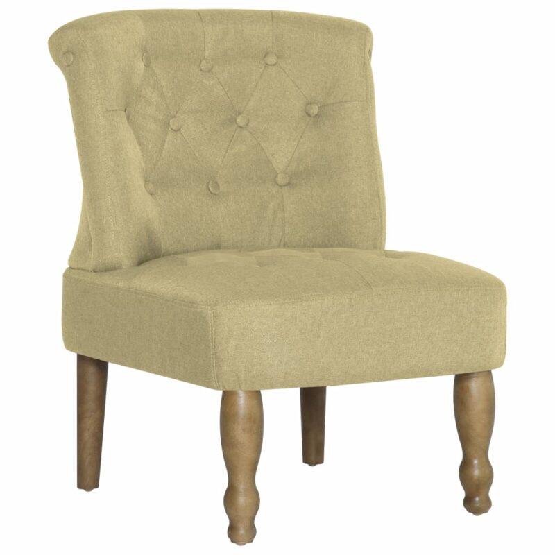 Franse stoelen 2 st stof groen