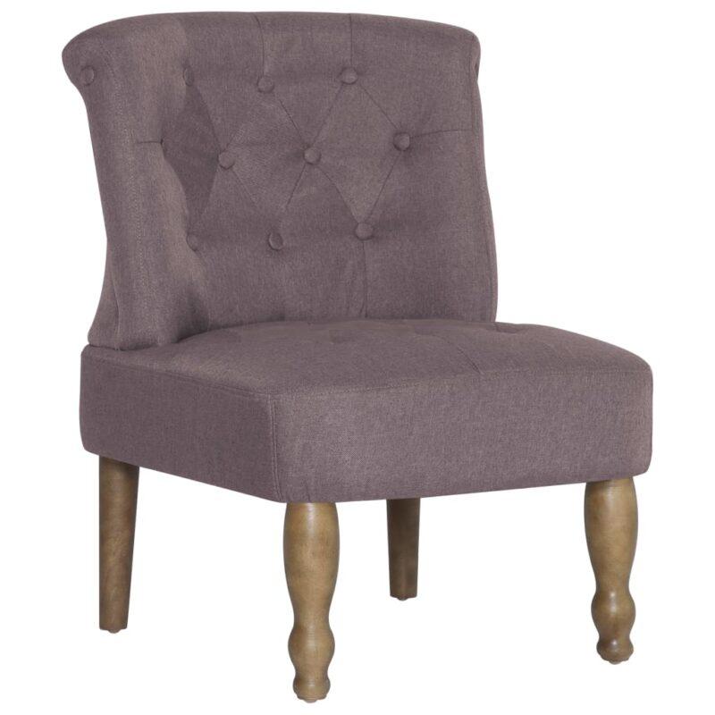 Franse stoelen 2 st stof taupe