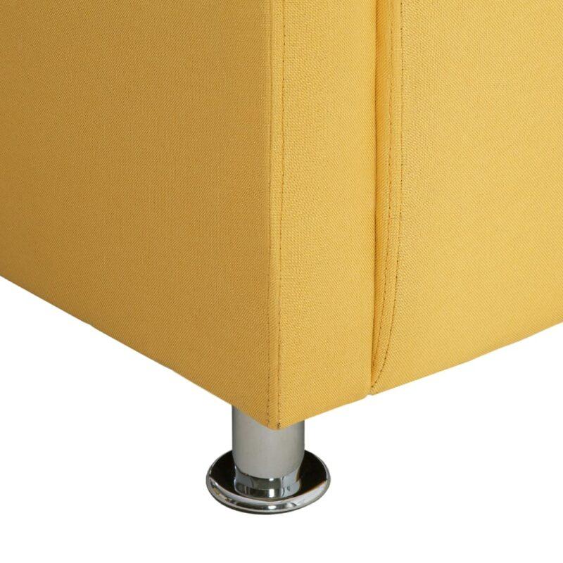 Fauteuil kubus stof geel