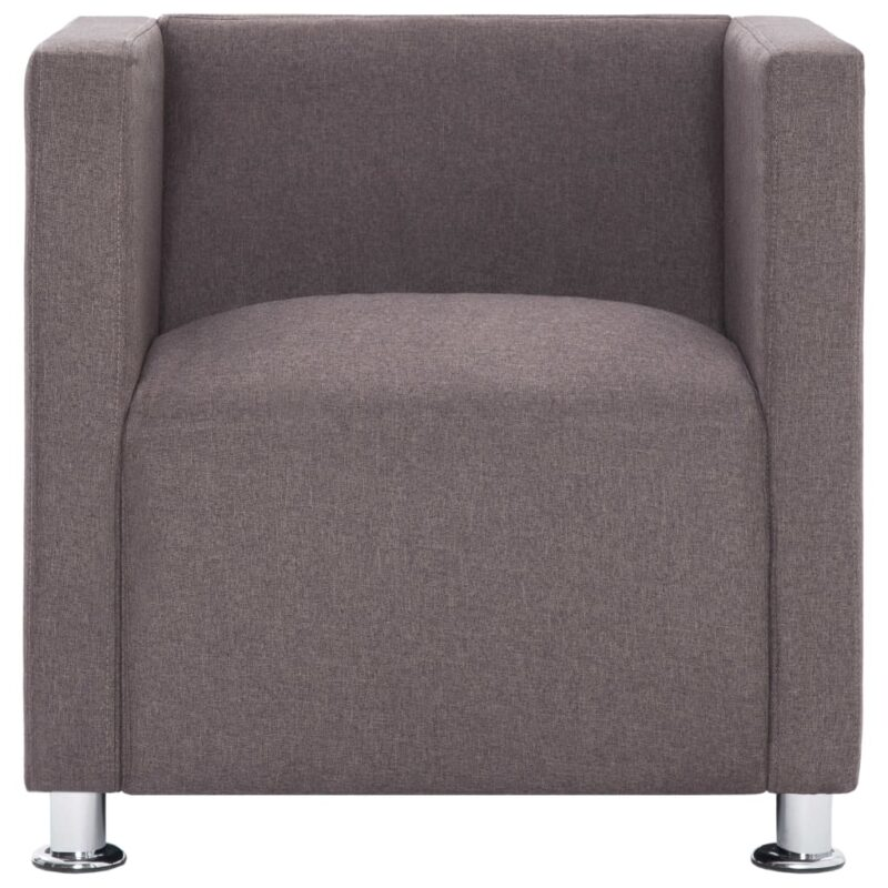 Fauteuil kubus stof taupe