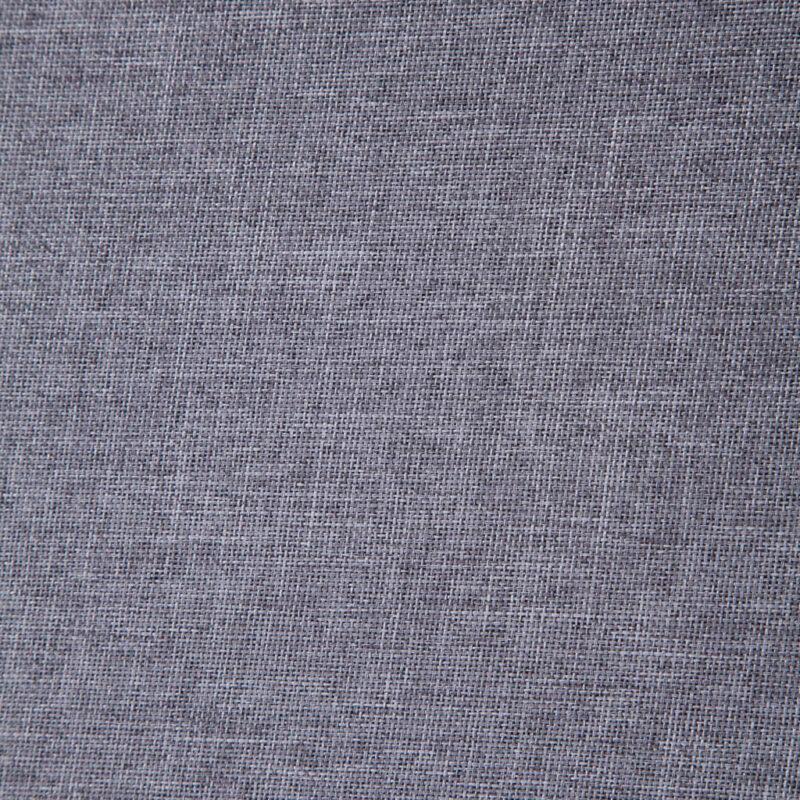 Fauteuil met chromen poten stof lichtgrijs