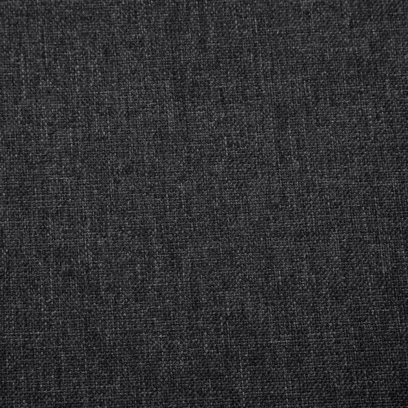 Fauteuil met chromen poten stof donkergrijs