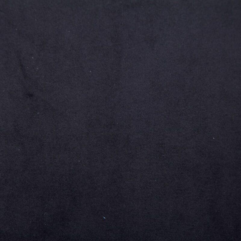 Fauteuil met chromen poten fluweel zwart