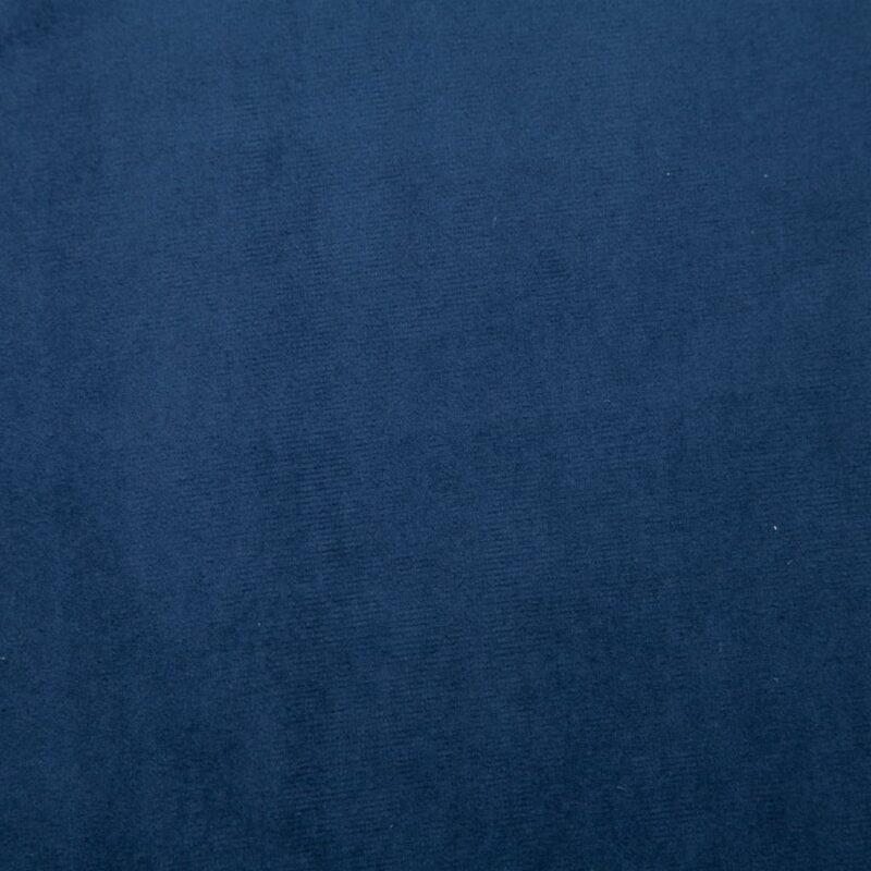 Fauteuil met chromen poten fluweel blauw