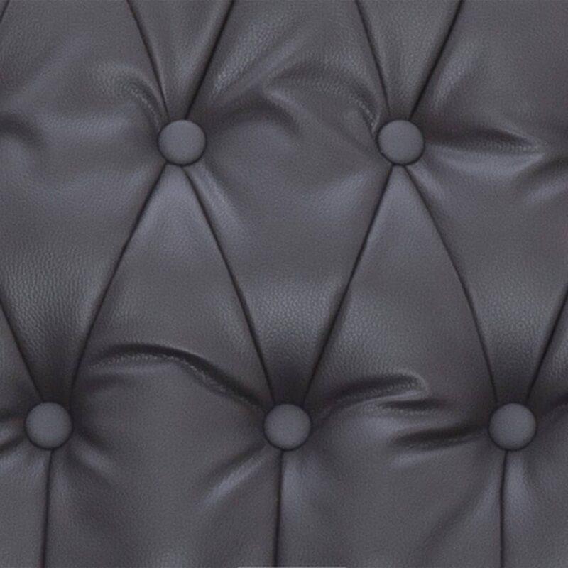 Stoel verstelbaar kunstleer grijs