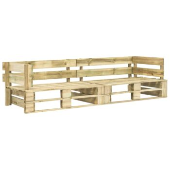 vidaXL Tuinbank 2-zits pallet hout