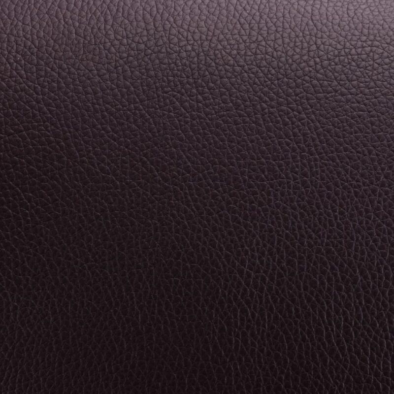 Leunstoel met voetenbankje kunstleer bruin