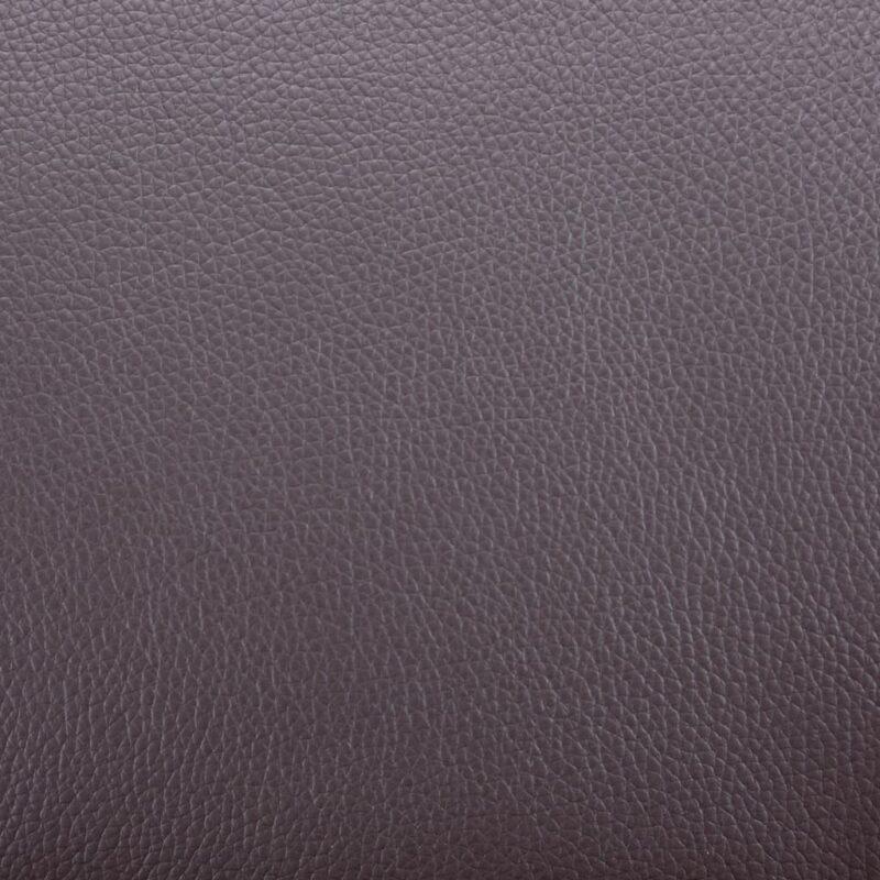 Fauteuil met voetenbankje kunstleer bruin