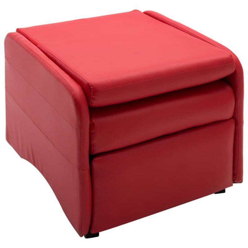 Fauteuil verstelbaar kunstleer rood