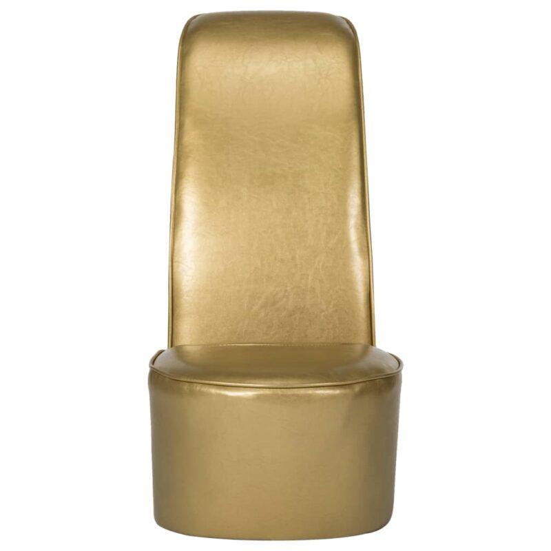 Hakstoel kunstleer goudkleurig