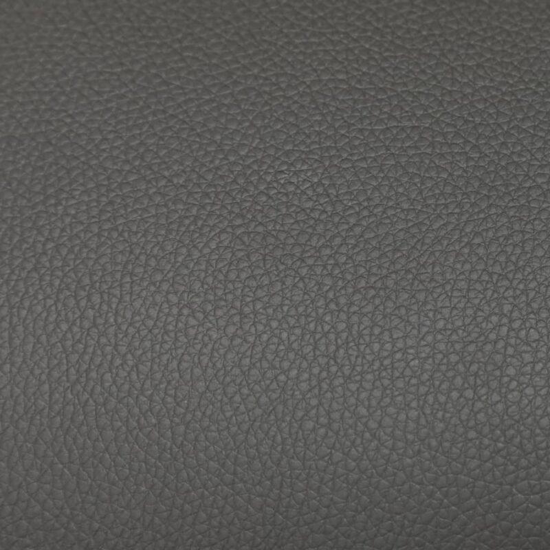 Leunstoel met voetenbankje kunstleer grijs