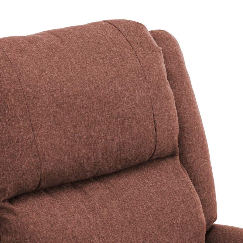 Televisiefauteuil stof bruin