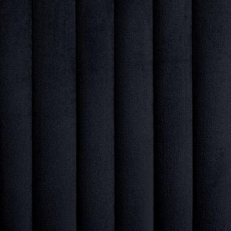 Eetkamerstoelen 2 st fluweel zwart