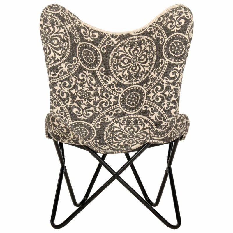 Vlinderstoel bedrukt canvas