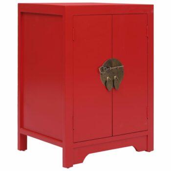 vidaXL Nachtkastje 38x28x52 cm paulowniahout rood