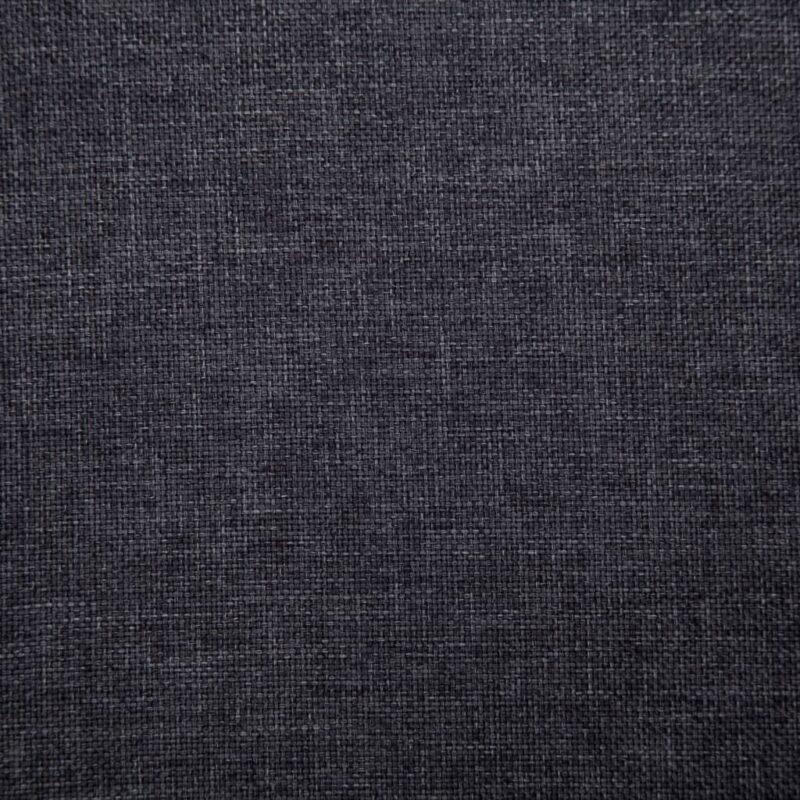 Eetkamerstoelen 4 st stof donkergrijs