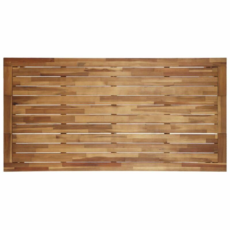 Eettafel 170x90x75 cm massief acaciahout