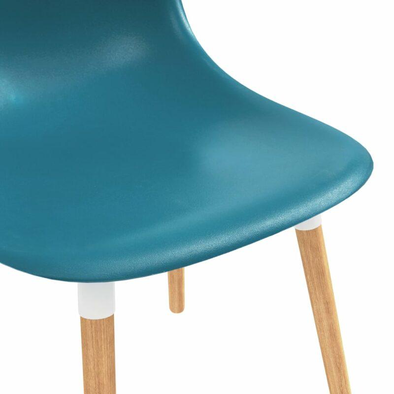 Eetkamerstoelen 6 st kunststof turquoise