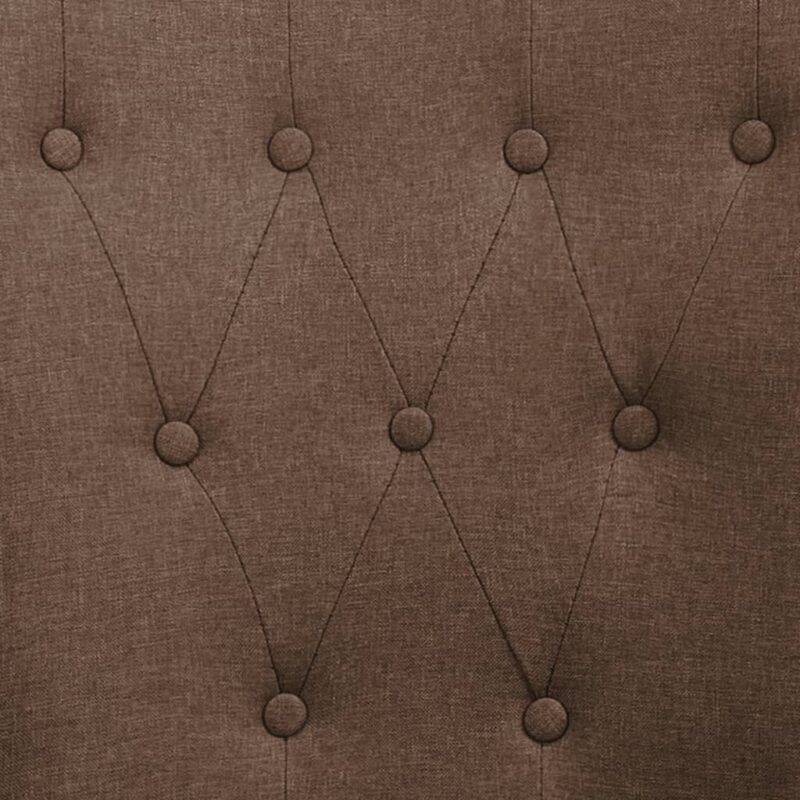 Eetkamerstoelen met armleuningen 6 st stof bruin