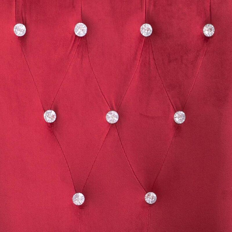Eetkamerstoel met armleuningen 4 st fluweel rood