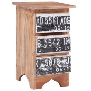 vidaXL Nachtkastje 30x30x51 cm massief gerecycled hout