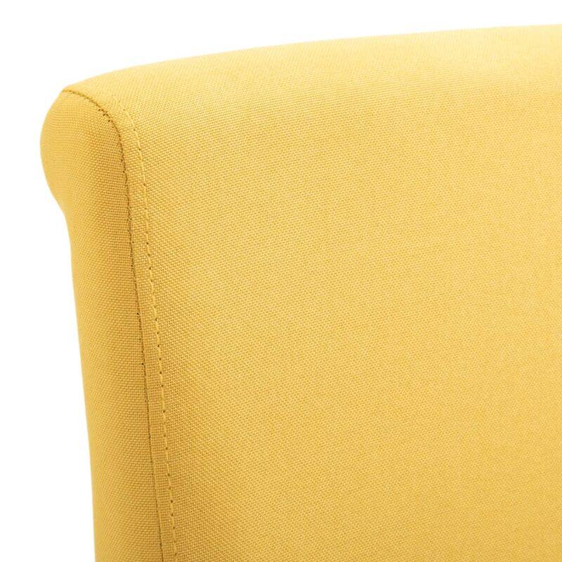 Eetkamerstoelen 6 st stof geel