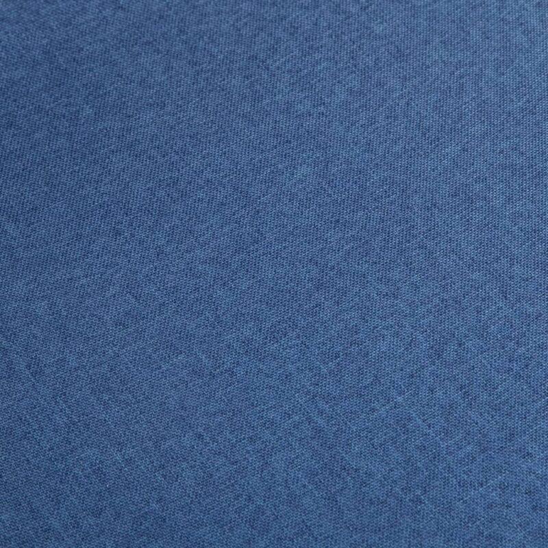 Eetkamerstoelen 6 st stof en massief eikenhout blauw