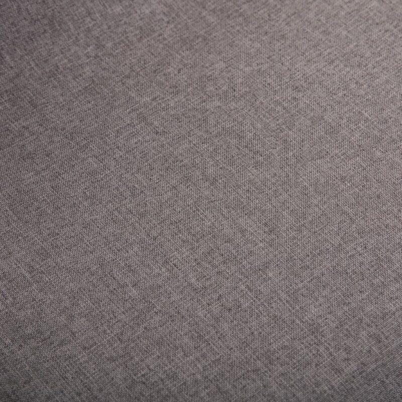 Eetkamerstoelen 6 st stof en massief eikenhout taupe