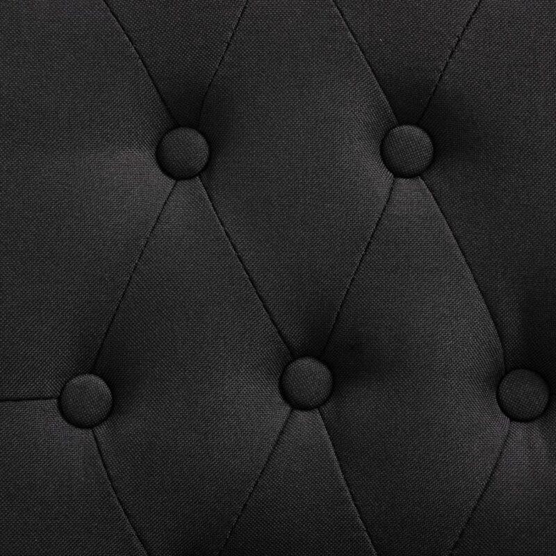 Eetkamerstoelen 6 st stof zwart