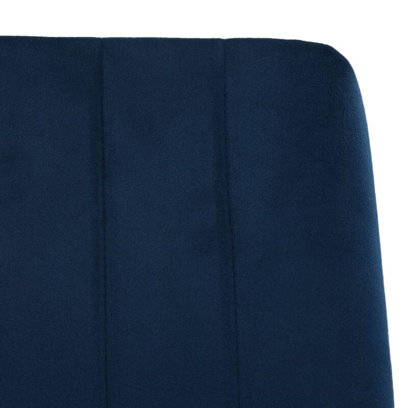 Eetkamerstoelen 4 st fluweel blauw
