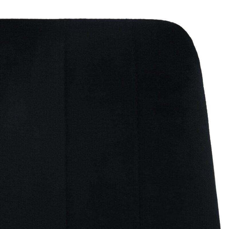 Eetkamerstoelen 4 st fluweel zwart