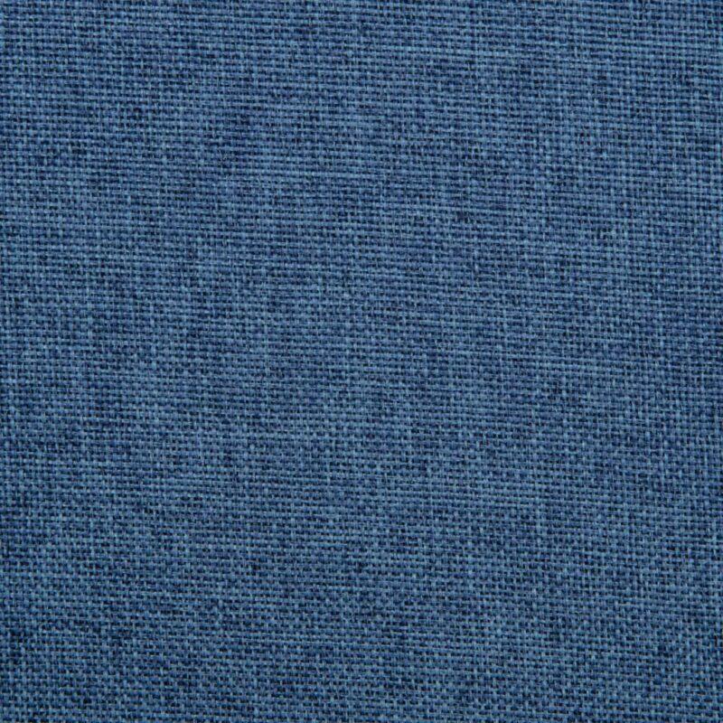 Eetkamerstoelen draaibaar 6 st stof blauw