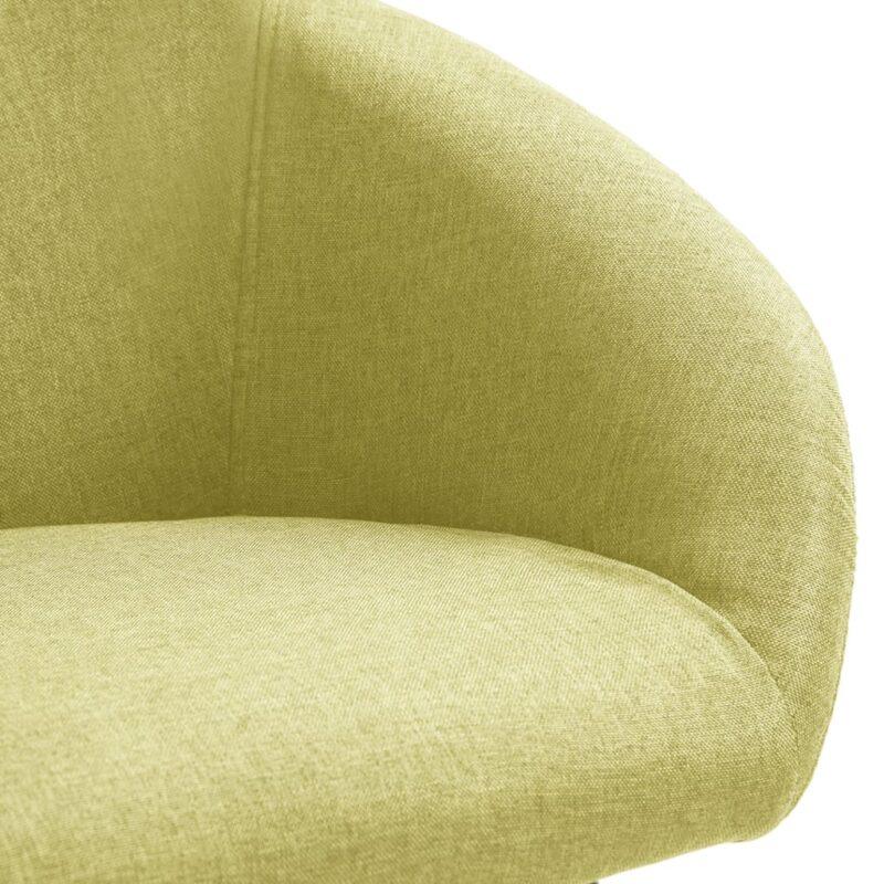 Eetkamerstoelen 4 st stof groen