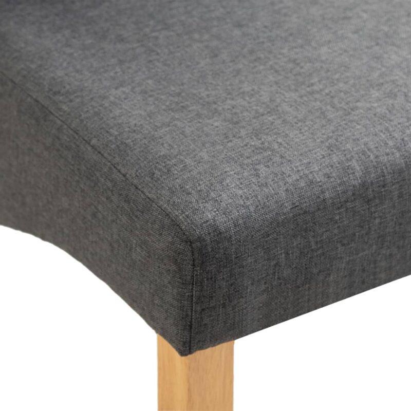 Eetkamerstoelen 6 st stof grijs