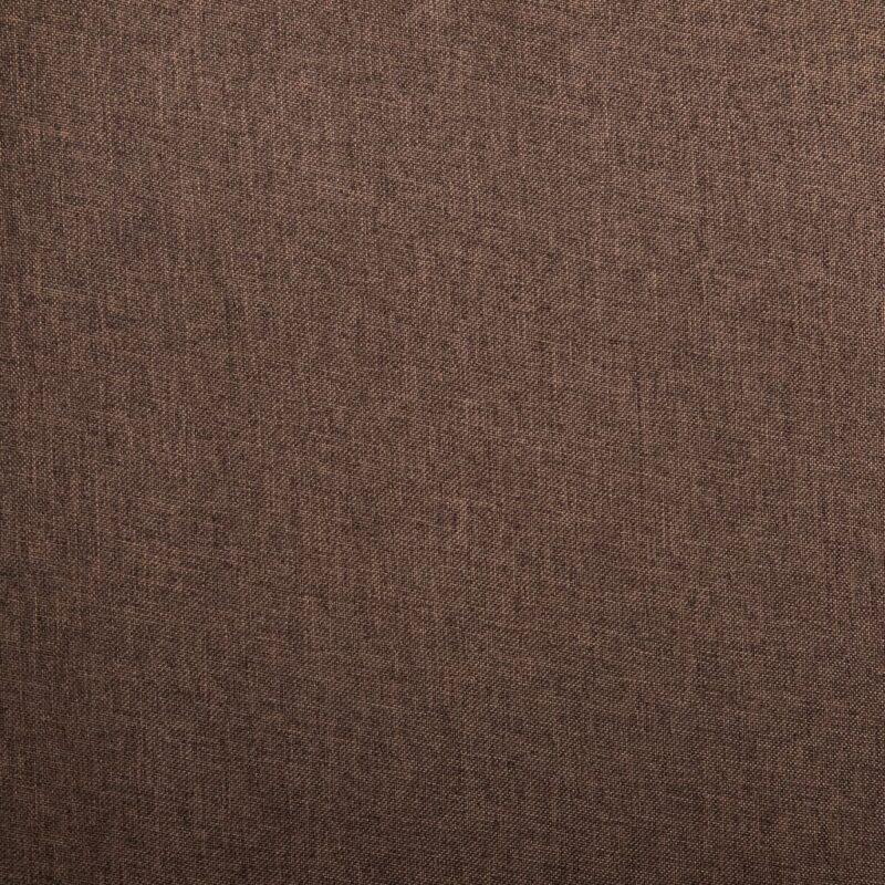 Eetkamerstoelen 6 st stof bruin